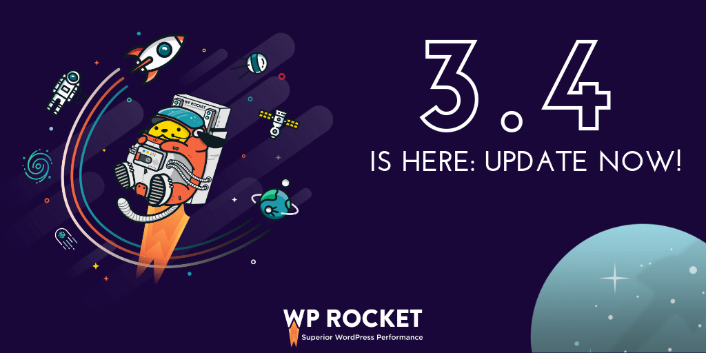 WP Rocket 3.4 is available