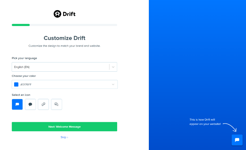 How to use Drift plugin settings wizard