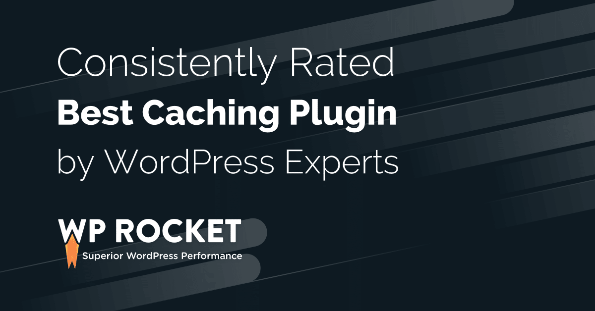 Caching Plugin for WordPress - Speed up your website with WP Rocket