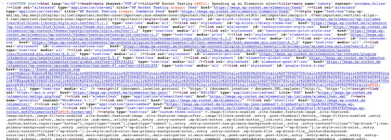 Minified HTML