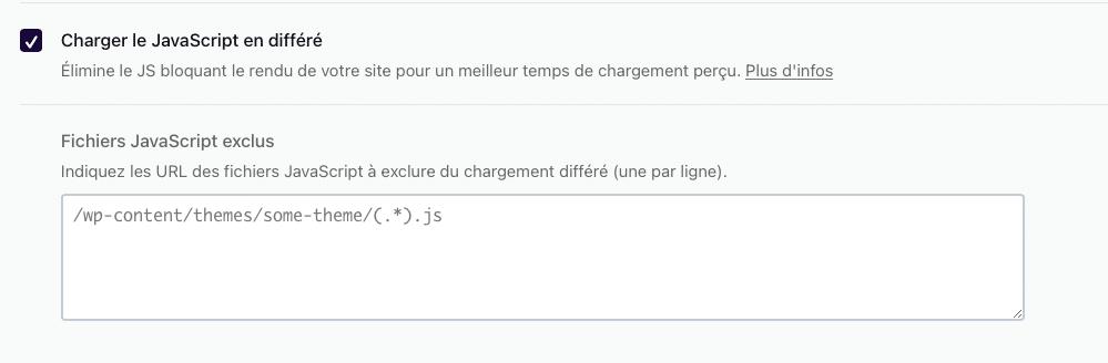 """L'option """"Charger le JavaScript en différé"""""""