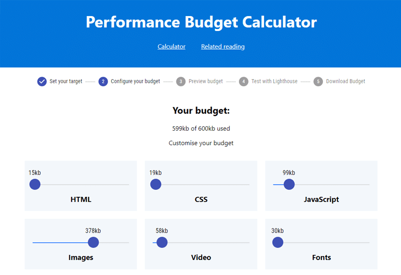 Calculate your performance budget with this simple online calculator