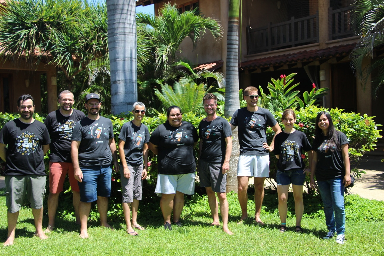 WP Rocket support team during the retreat.