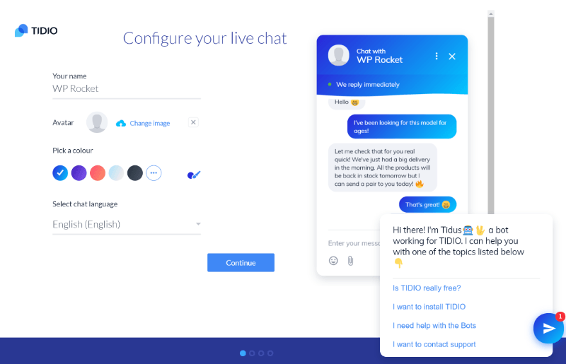 How to configure your account with Tidio Live Chat