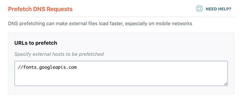 Prefetch DNS requests in WP Rocket