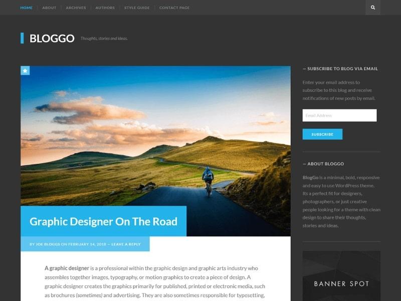 Les plus rapides thèmes WordPress gratuits : Bloggo