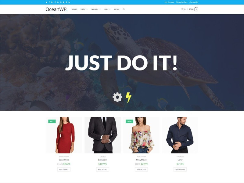 What are the fastest free WordPress Themes - OceanWP