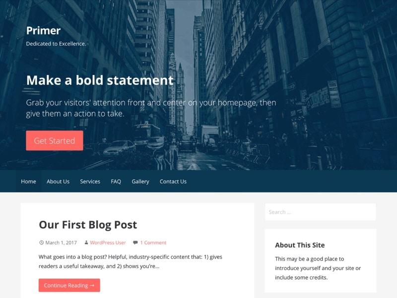 Les plus rapides thèmes WordPress gratuits : Primer