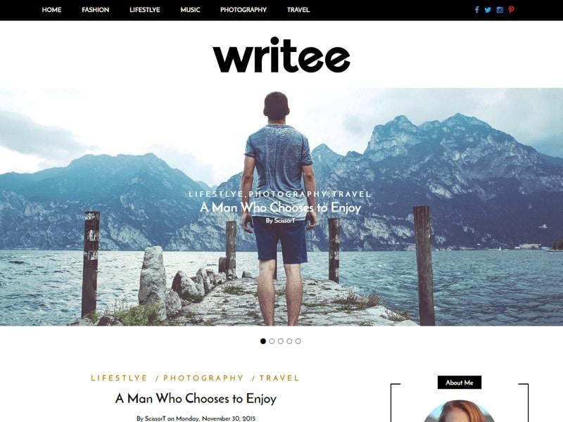 Les plus rapides thèmes WordPress gratuits : Writee