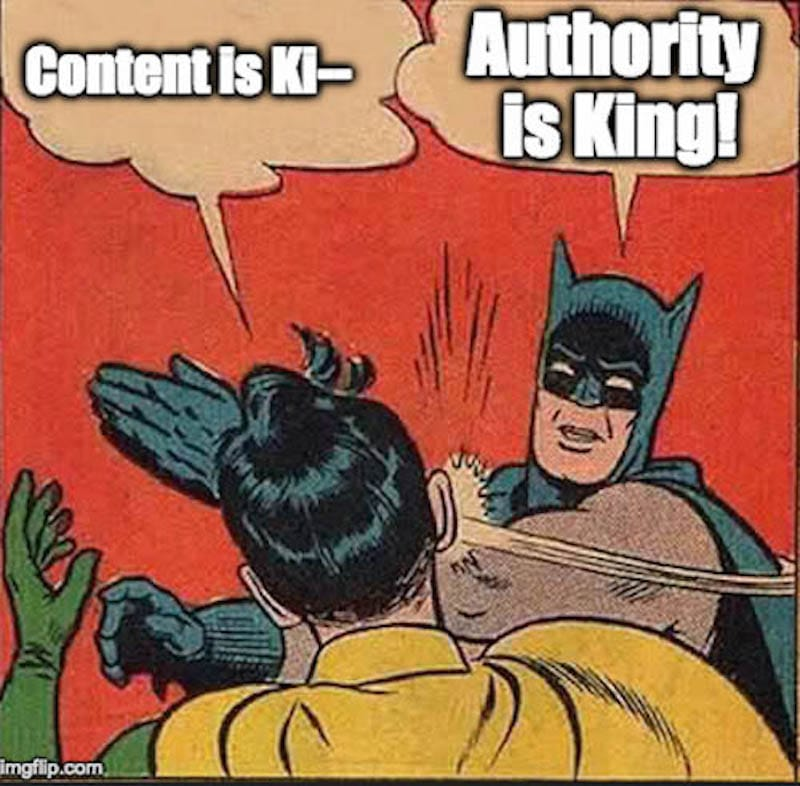 Authority is king