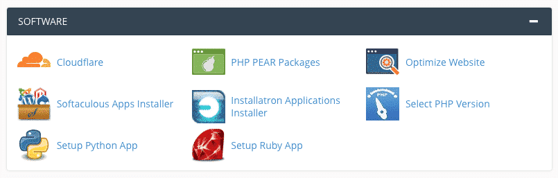 Select PHP Versions from cPanel