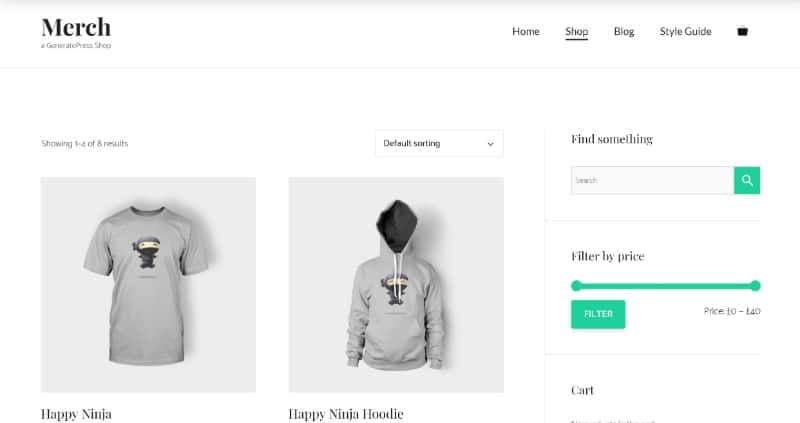 GeneratePress is one of the fastest WooCommerce themes