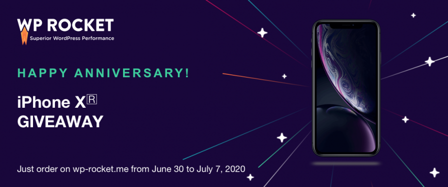 WP Rocket giveaway 7th anniversary