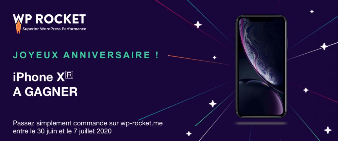 WP Rocket concours pour son anniversaire