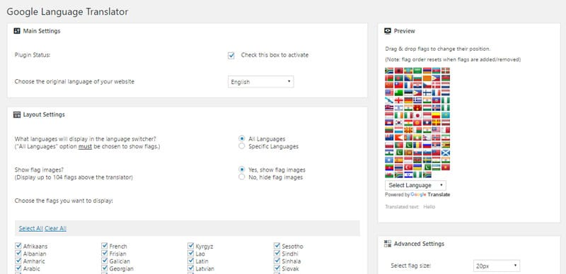 google language translator wordpress plugin