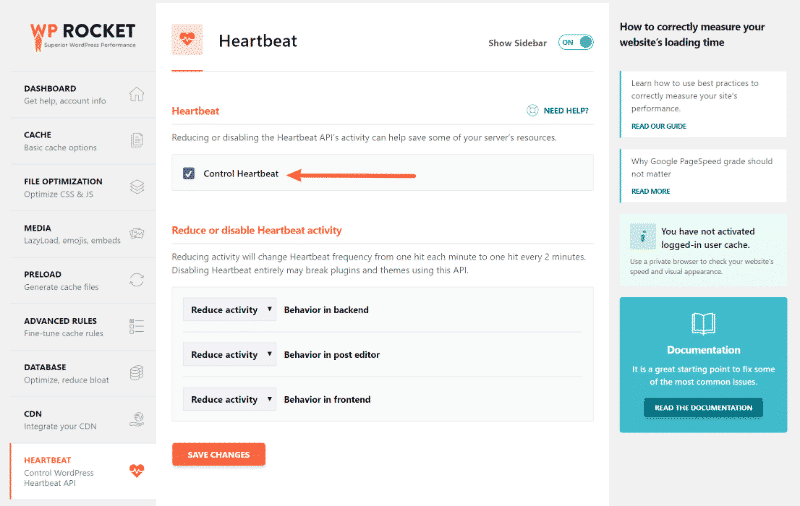 how to fix slow wordpress admin heartbeat plugin