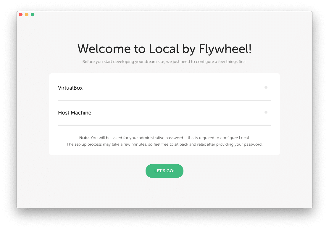 Local by Flywheel Localhost Virtualbox