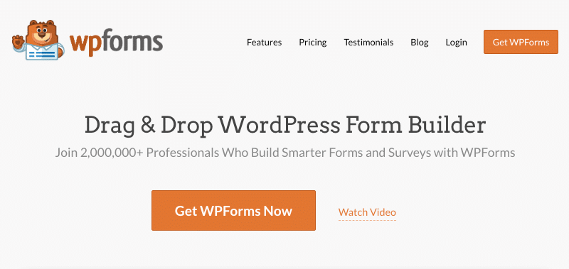 WPForms Form Builder WordPress Plugin