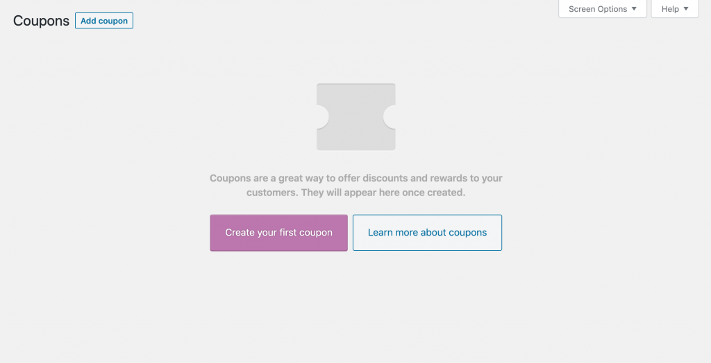 Adding coupons on WooCommerce