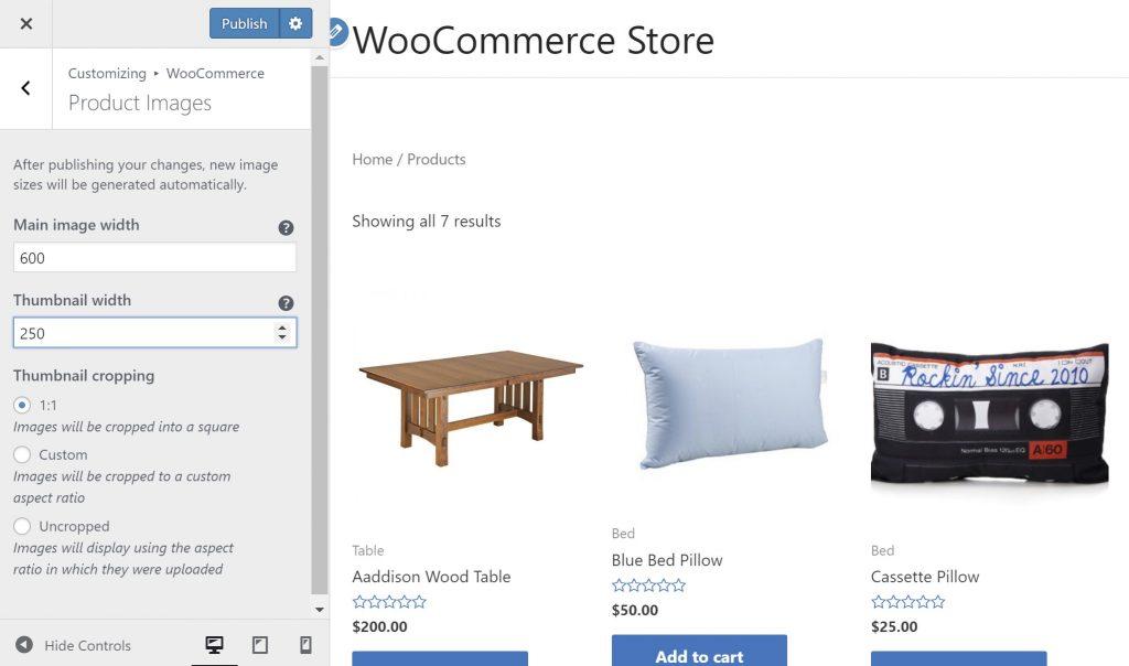 WooCommerce Thumbnails Size