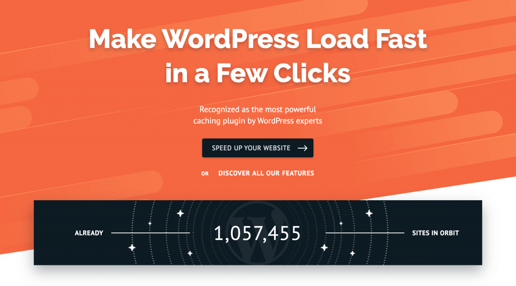 WP Rocket homepage