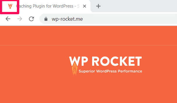 WP Rocket's favicon