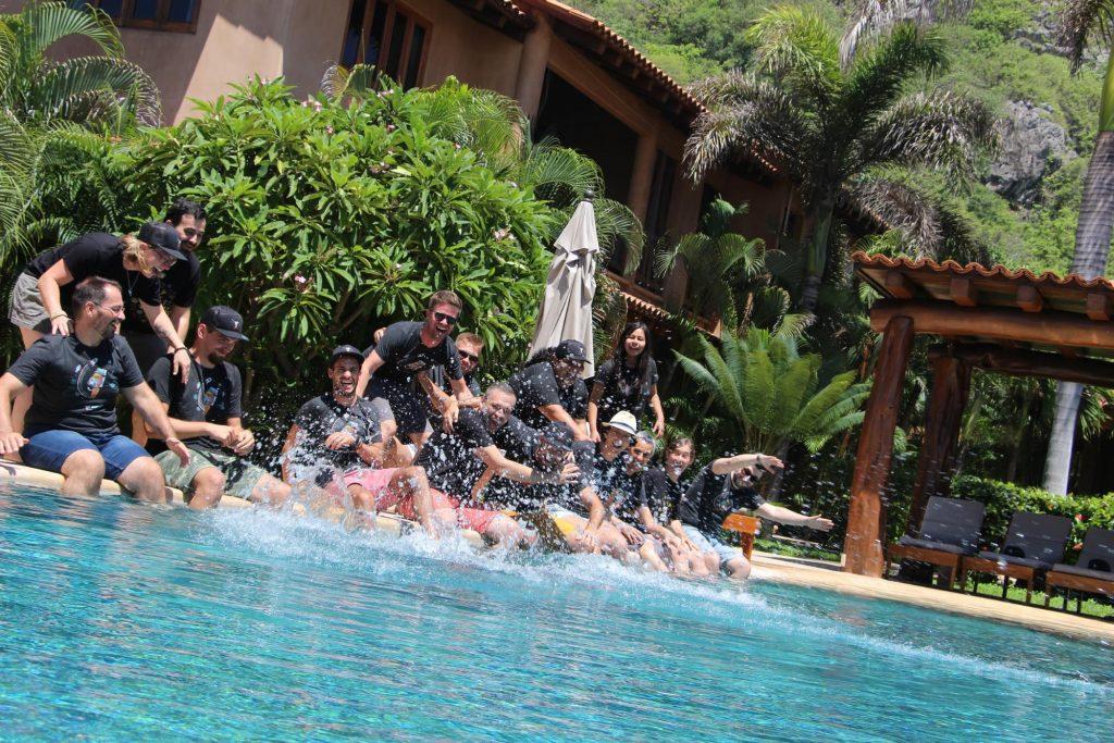 WP Rocket team having fun in Mexico