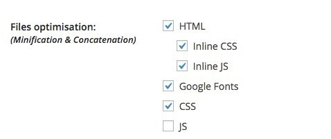 WP Rocket Inline Minification CSS and JS
