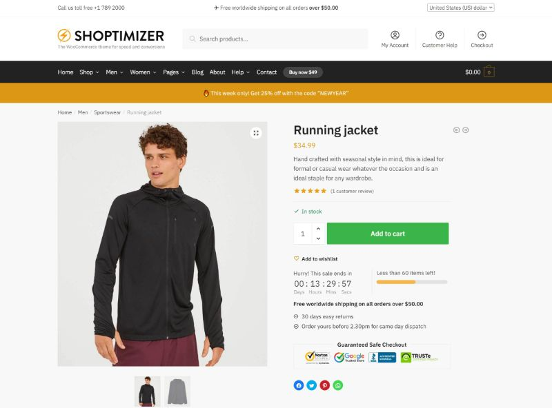 shoptimizer fastest woocommerce theme 7