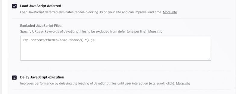 JS files optimization tab - WP Rocket's dashboard