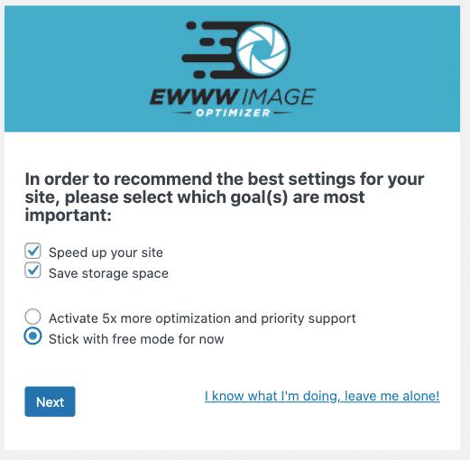 Ewww Image Optimizer - Goals
