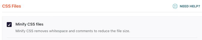 Minify CSS files - WP Rocket